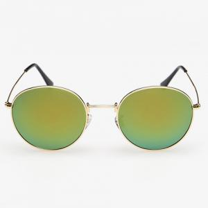 Stylish Full Frame Outdoor Golden Sunglasses For Men -