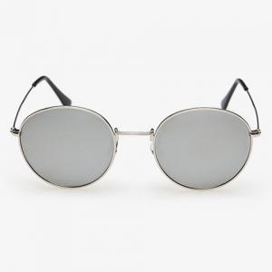 Stylish Full Frame Outdoor Silver Sunglasses For Men - SILVER