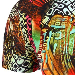 Round Neck Geometric Abstract 3D Print Pattern Short Sleeve T-Shirt For Men -