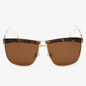 Stylish Flecky Brow and Hollow Out Leg Embellished Sunglasses For Men -