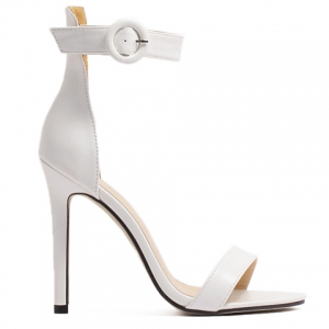 Simple Ankle Strap and Stiletto Heel Design Sandals For Women -