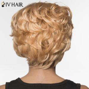 Stylish Siv Hair Curly Short Human Hair Wig For Women -