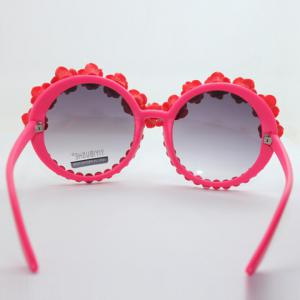Chic Rose Shape and Bead Embellished Hot Summer Red Sunglasses For Women -