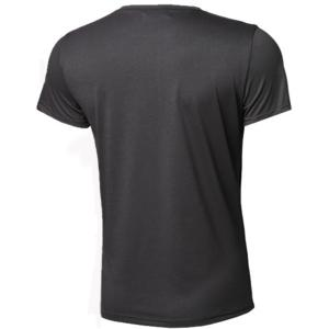 Slimming Round Neck Stripes Ombre Print Short Sleeves T-Shirt For Men - DEEP GRAY S