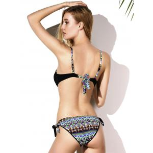 Graceful Spaghetti Strap Push Up Side-Tie Imprimé Ensemble bikini pour les femmes -