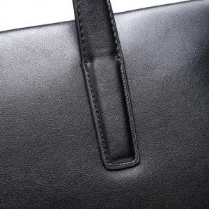 Concise PU Leather and Black Design Briefcase For Men -