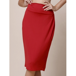 High-Waisted Bodycon Midi Skirt