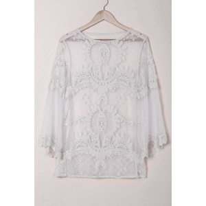 Sheer Lace Cover Up Top
