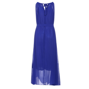 Sleeveless Chiffon Long Prom Evening Dress - PURPLISH BLUE 3XL