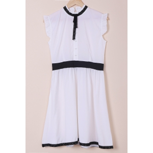 High Neck A Line Sleeveless Dress