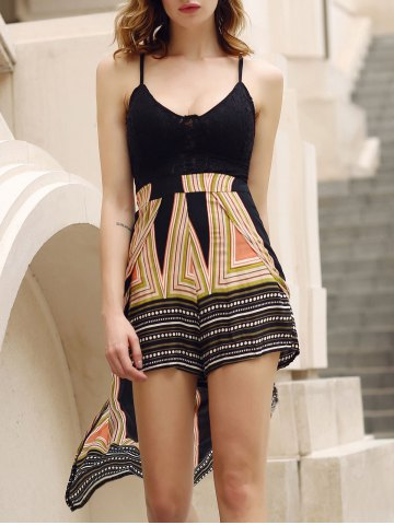 New Stylish Plunging Neck Backless Multi Convertible Way Skirted Romper For Women