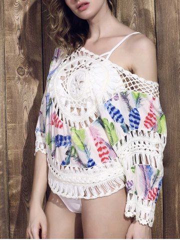 Fashion Scoop Neck Crochet Swimwear Cover-Up
