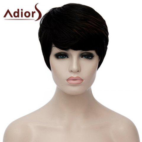 Attractive Highlight Red Side Bang capless Mode court perruque synthétique droite pour les femmes
