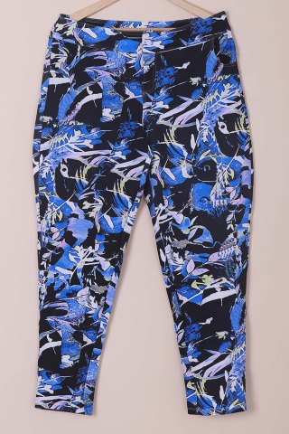 Store Chic Mid-Waisted Plant Print Plus Size Women's Pants