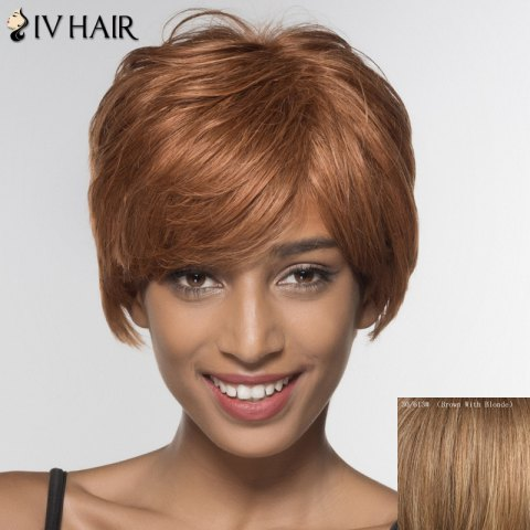 New Stylish Siv Hair Ultrashort Side Bang Human Hair Wig For Women