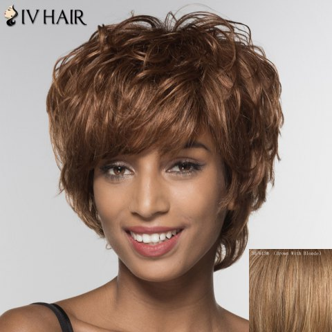 Fashion Stylish Siv Hair Short Side Bang Human Hair Wig For Women