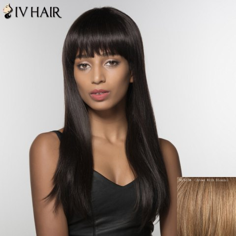 Shops Fashion Siv Hair Long Full Bang Human Hair Wig For Women