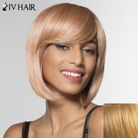 Shop Stylish Siv Hair Inclined Bang Bobo Style Human Hair Wig For Women