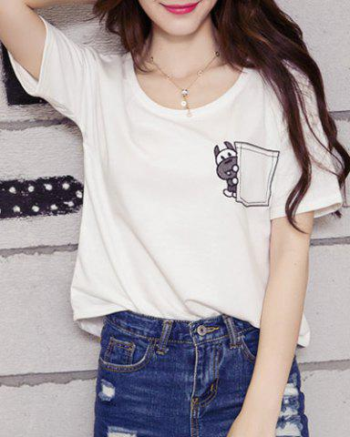 Fancy Embroidered Graphic T-Shirt