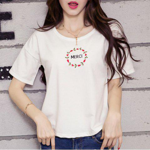 Shop Embroidered Merci Graphic Tee