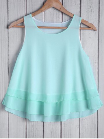 Hot Fashionable Round Collar Solid Color Loose-Fitting Women's Tank Top