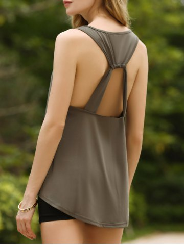 Fashion Chic U-Neck Open Back Tank Top For Women