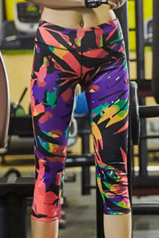 Shops Stylish Super-Elastic Colorful Printed Stretch Sport Pants For Women