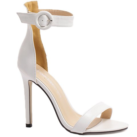 Affordable Simple Ankle Strap and Stiletto Heel Design Sandals For Women
