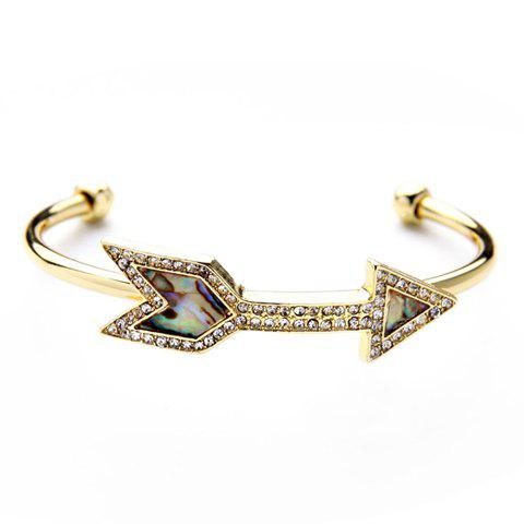 Shops Arrow Shape Rhinestones Shell Decorated Bracelet - GOLDEN  Mobile