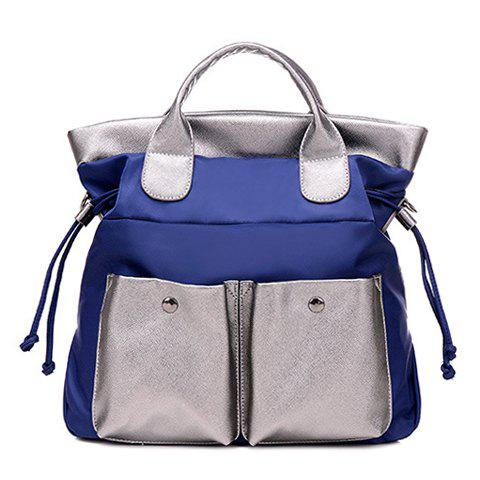 Discount Leisure Splicing and Colour Block Design Tote Bag For Women