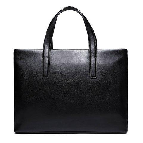 Affordable Concise PU Leather and Black Design Briefcase For Men