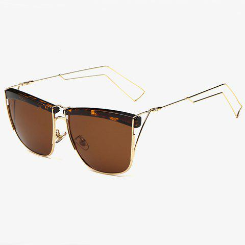 Outfits Stylish Flecky Brow and Hollow Out Leg Embellished Sunglasses For Men