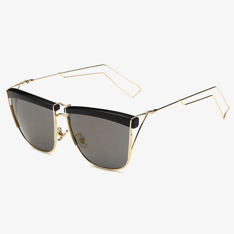 Fancy Stylish Black Brow and Hollow Out Leg Embellished Sunglasses For Men GOLDEN