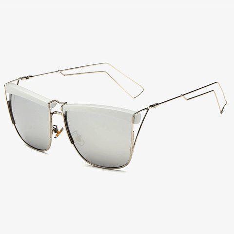Sale Stylish White Brow and Hollow Out Leg Embellished Sunglasses For Men
