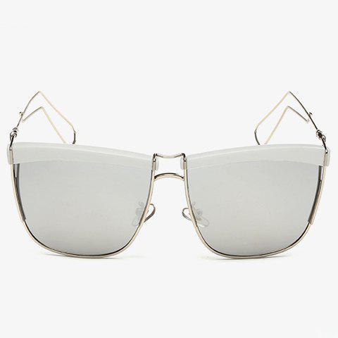 Stylish White Brow and Hollow Out Leg Embellished Sunglasses For Men от Rosegal.com INT