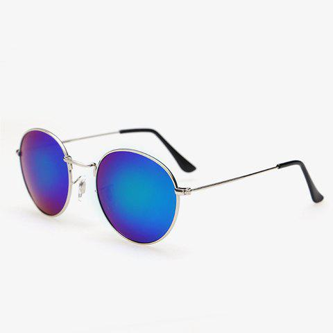 Discount Stylish Full Frame Outdoor Silver Sunglasses For Men - BLUE  Mobile