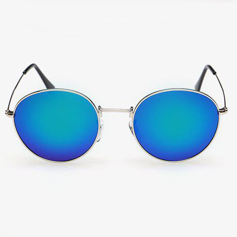 Affordable Stylish Full Frame Outdoor Silver Sunglasses For Men - BLUE  Mobile
