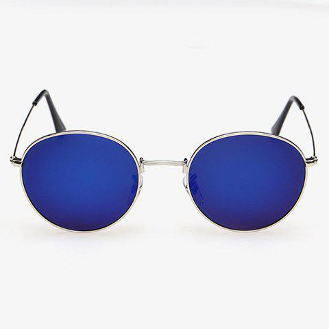 Unique Stylish Full Frame Outdoor Silver Sunglasses For Men - DEEP BLUE  Mobile