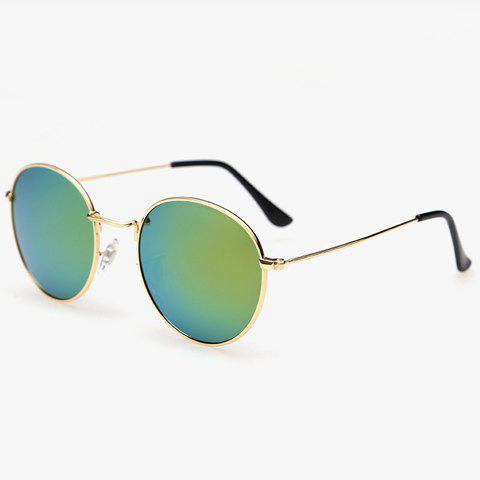Fashion Stylish Full Frame Outdoor Golden Sunglasses For Men