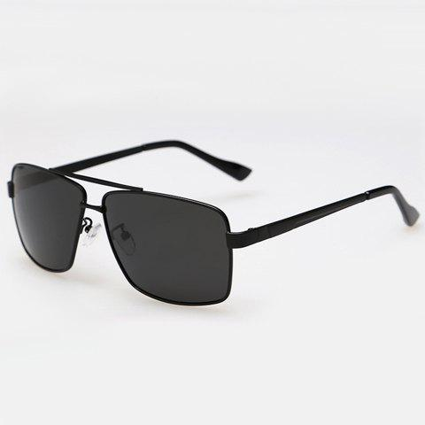Store Stylish Solid Color Rectangle Metal Frame Sunglasses For Men