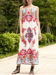Boho Long Printed Slip Swing Dress