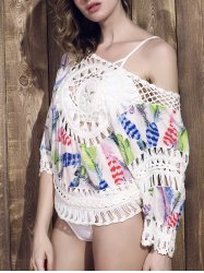 Mode Scoop Neck Crochet Cover-Up Top pour les femmes -