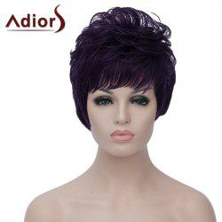 Towheaded Natural Wave Capless Vogue Short Purple Highlight Synthetic Wig For Women