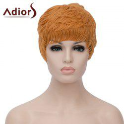 Vogue Ombre Color Adiors Hair Capless Fluffy Short Curly Bump Synthetic Wig For Women - COLORMIX