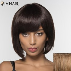 Stylish Siv Hair Straight Bobo Style Human Hair Wig For Women -