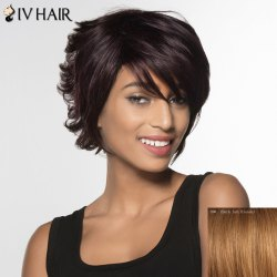 Siv Hair Curly Short Human Hair Wig For Women - DARK ASH BLONDE