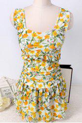Refreshing Flower Print Push Up Swimsuit For Women