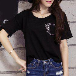 Embroidered Graphic T-Shirt -