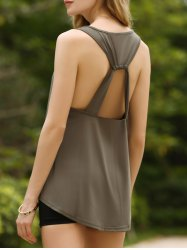 Chic U-Neck Open Back Tank Top For Women -