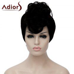 Fluffy Straight Synthetic Fashion Black Short Adiors Hair Bump Wig For Women